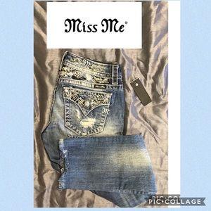 Miss Me signature crop slim fit low rise jeans 28